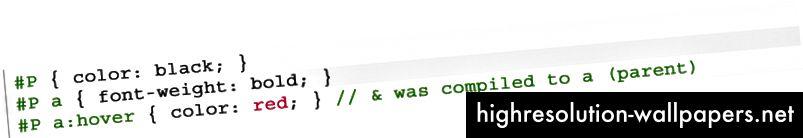 Αποτέλεσμα - Το SCSS μετατράπηκε σε CSS