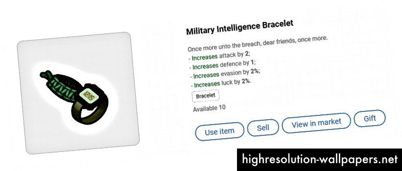 Brățară de informații militare
