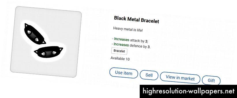 Brățară din metal negru