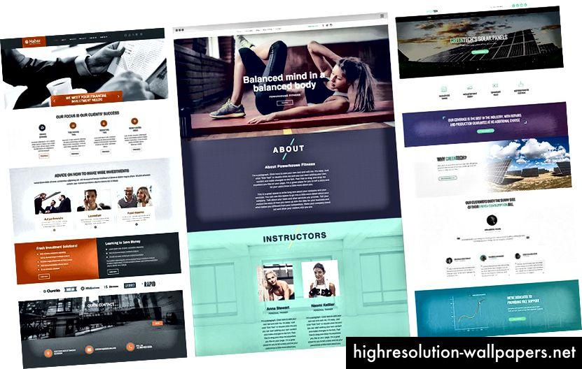 """Pinterest-resultater for """"web design bootstrap"""""""