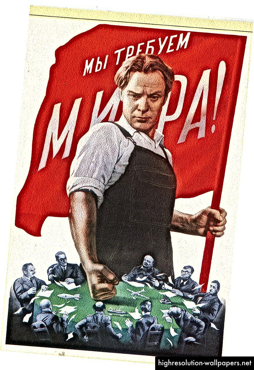 """Foto: V. Koreckij.1950. Alʹbom političkih plakata """"Kontakt - Kulʹtura"""" putem Wikimedije"""