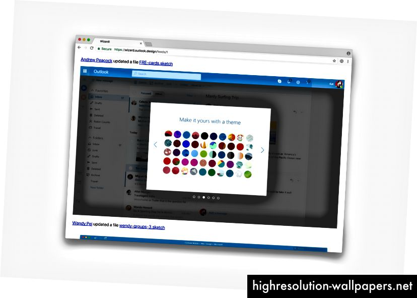 Wizard er et internt websted, der viser forhåndsvisninger af de seneste ændringer på Sketch.