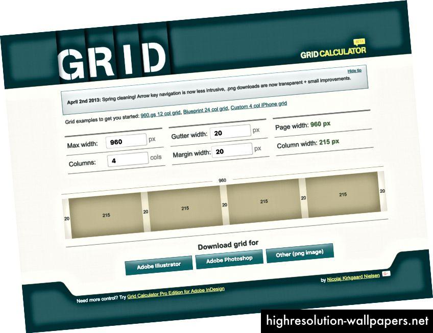 http://gridcalculator.dk/ di Nicolaj Kirkgaard Nielsen