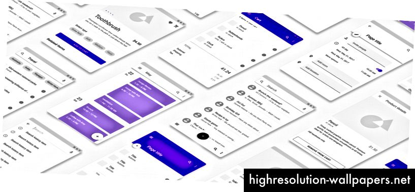 Μια συλλογή UI που δημιουργήθηκε χρησιμοποιώντας εξαρτήματα προσαρμοσμένα με ιδιότητες Master