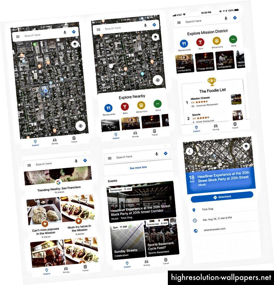 Aktuelt Google maps begivenhedsindhold