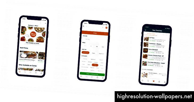 ÎNCĂRCARE: Pagina de pornire | Ecranul filtrelor | Favorite