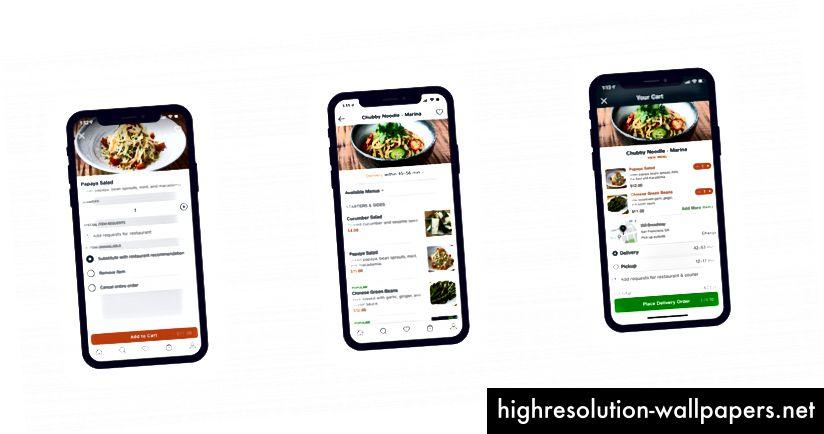 KARTSIDE: Valg af madvare | Menuside | Kasseside