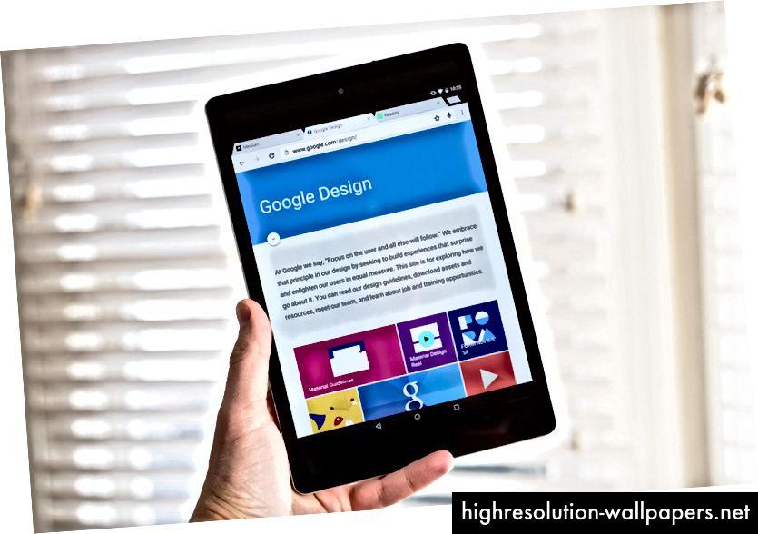 Το νέο MD του Chrome στο tablet