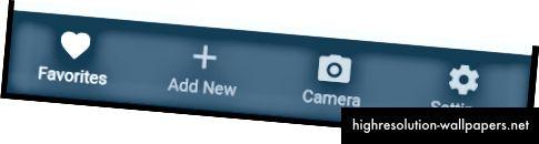 TabBar con icone e testo (Android)