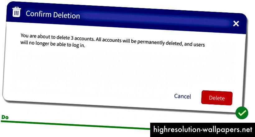 Aquí queremos advertirte que eliminar 3 cuentas no es algo que haces todos los días.