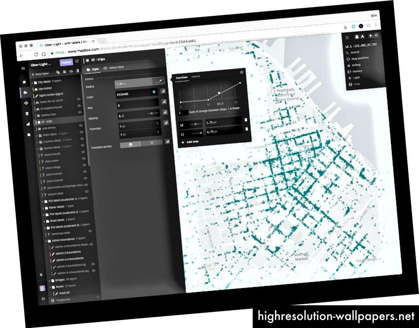 Mapbox studio - bedst i klassen kortstil editor