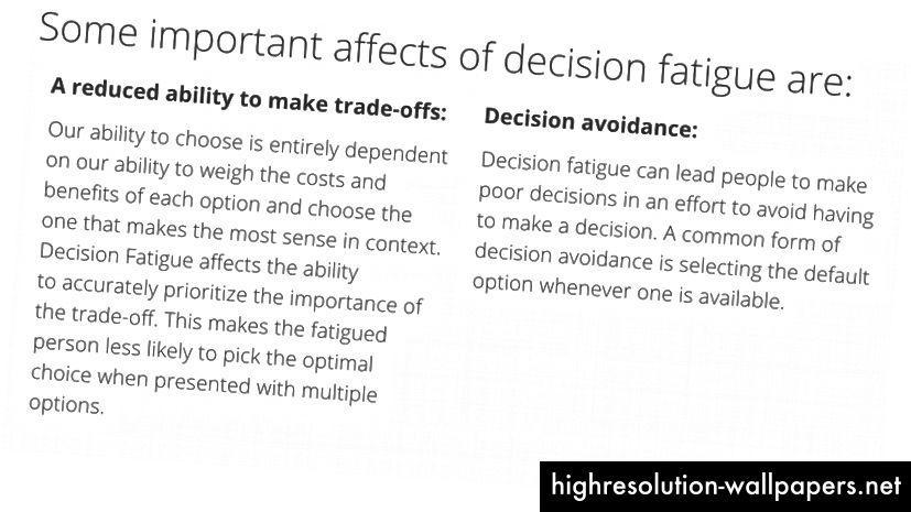 Πιστωτικό: Μεγάλη μορφή: Το UX της απόφασης κόπωση και ρητή επιλογή