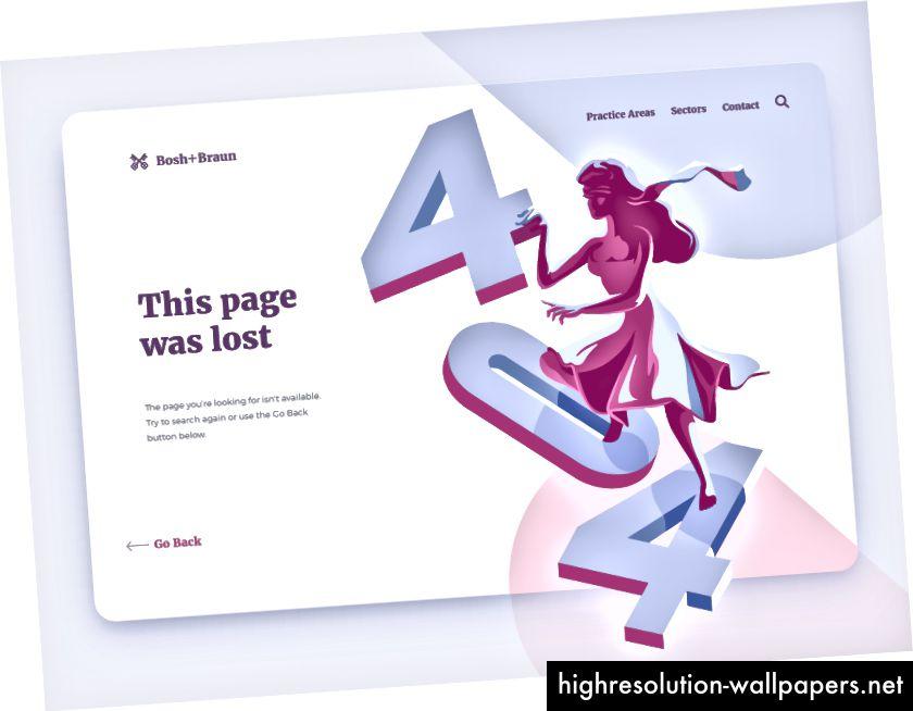 404 Illustration af Mike Piechota for Netguru