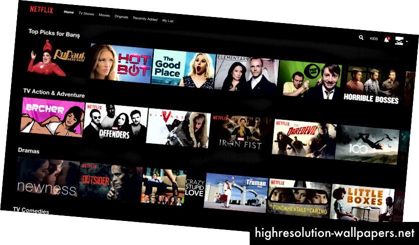 """Netflix """"Toppicks for Barış"""" -muligheden fjerner beslutnings trætheden."""