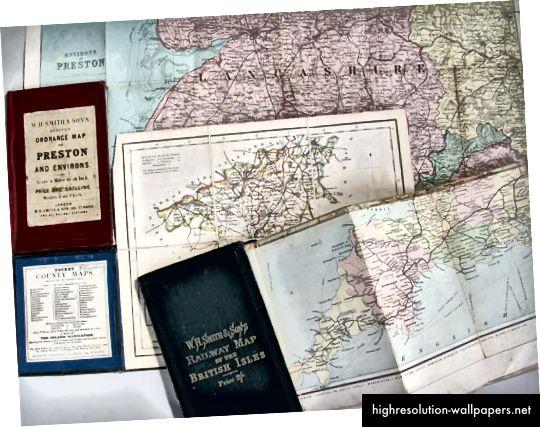 Χάρτες τσέπης Circa 19 / 20ου αιώνα