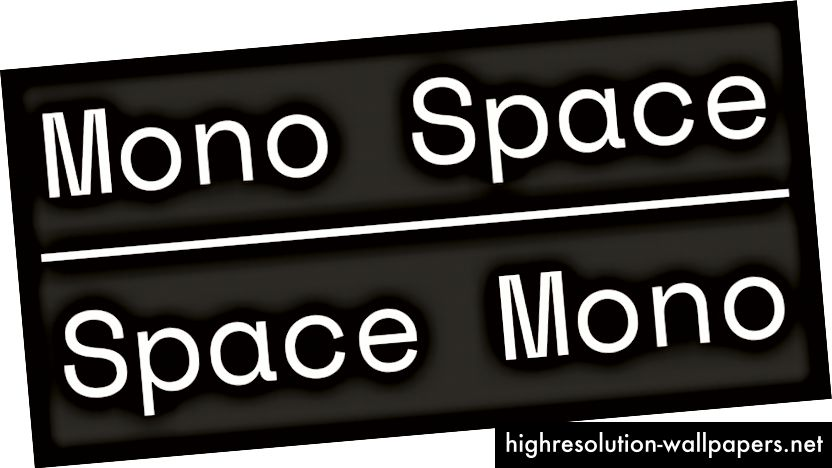 Space Mono, Regular, 2016.