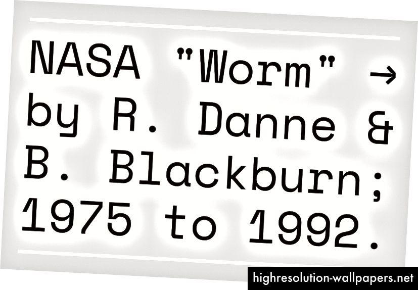 NASA 'Worm' -mærket påvirkede visse adfærd inden for Space Mono. Space Mono, Regular, 2016.