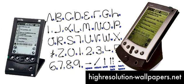 Berørings- og pennetilførsel, som det ses i Palm Pilot's Graffiti-inputsprog, var engang et underligt bagvand i designudforskning. Stemmebrugergrænseflader er kommet frem fra denne fase.