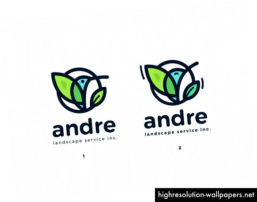 Mascotvariationer til Andre logo
