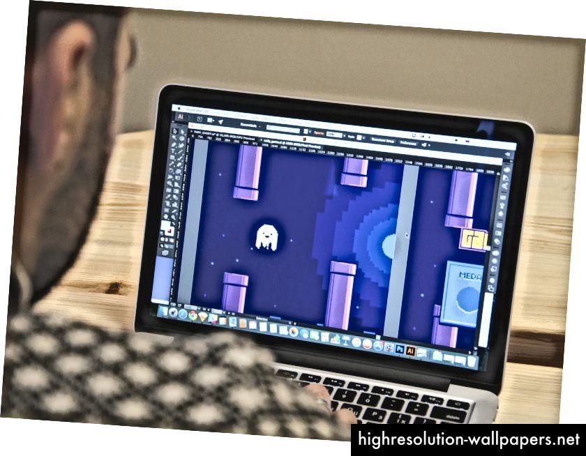 Saily App-logo testet som et spilkarakter