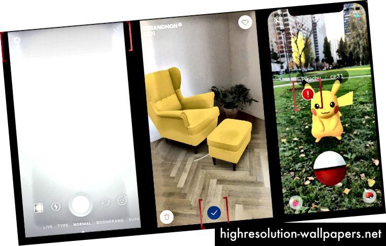Заголовок градиента в Instagram, фирменный цвет IKEA в качестве акцентного цвета, Pokemon GO красный цвет оповещения