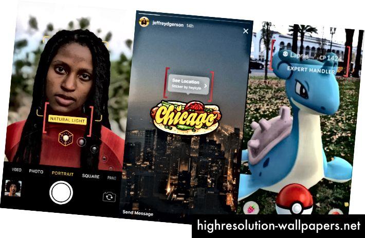 портретный режим iOS, наклейка с местоположением в Instagram, статистика Pokemon Go