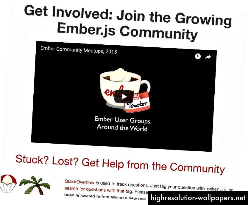 Ember's Community Sizzle Reel je srdačna dobrodošlica