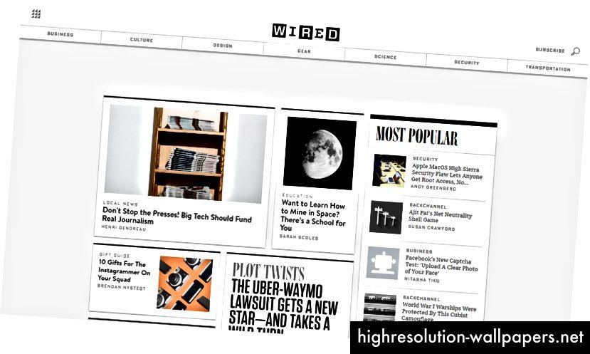 Оформление в списание е най-подходящо за новинарски сайтове, които имат много редовно актуализирано съдържание в множество категории.
