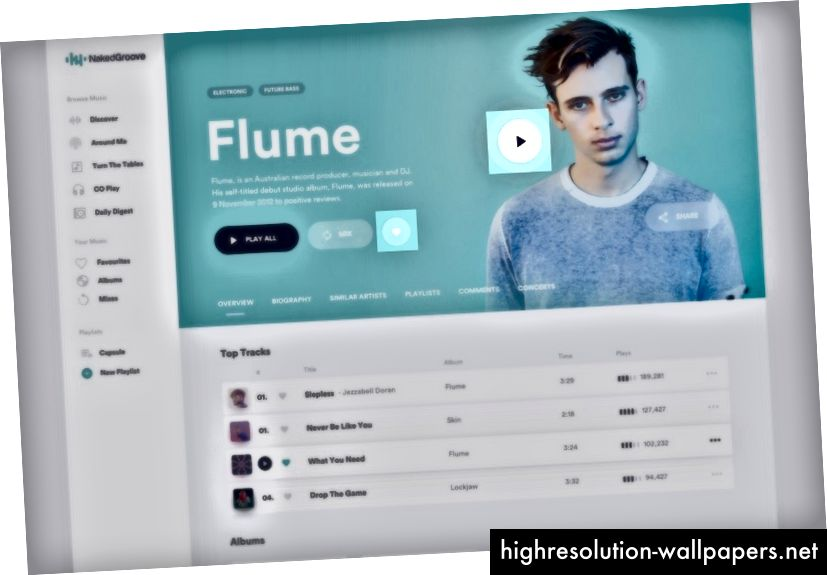 Online-musikstreaming-service-koncept af Mateusz Piątek