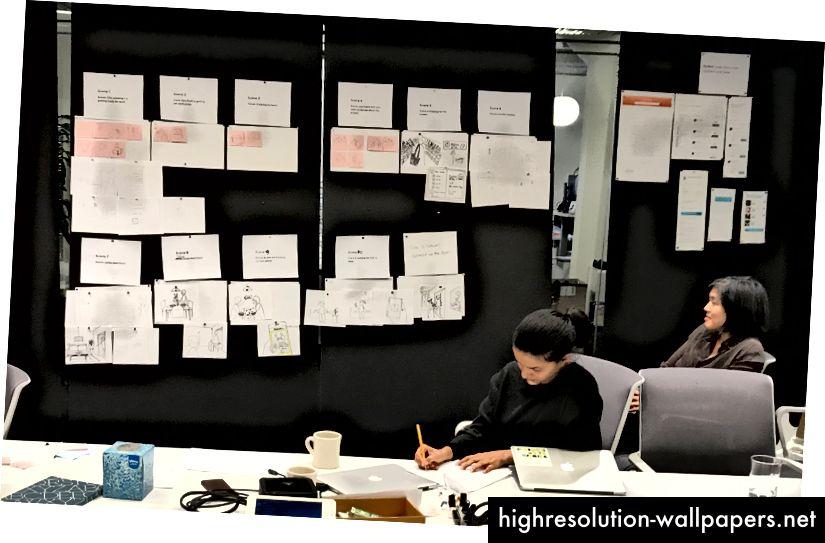 Storyboarding o poveste de viziune în Thumbtack Design Studio
