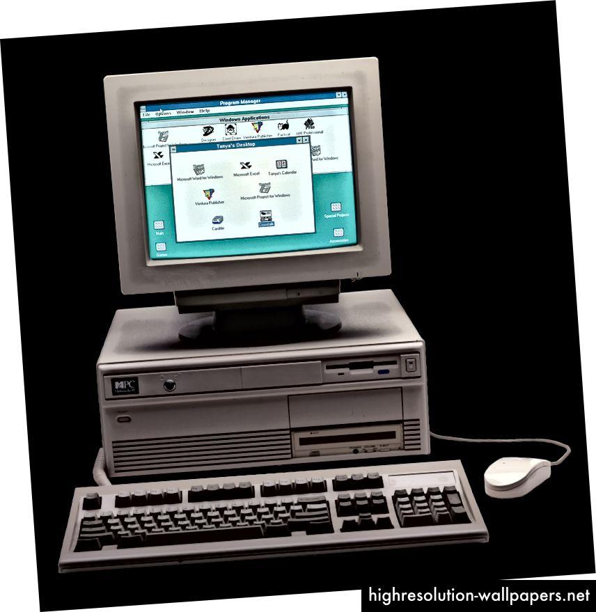 Windows 3.0 (il design si mette al tavolo)