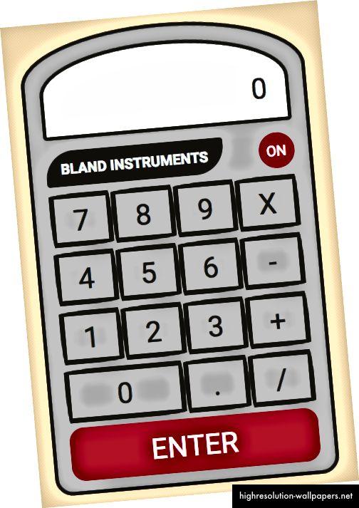 Slika kalkulatora koji ćemo izrađivati