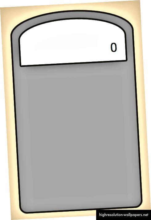 Slika okvira rezultata kalkulatora stvorenog CSS-om iznad