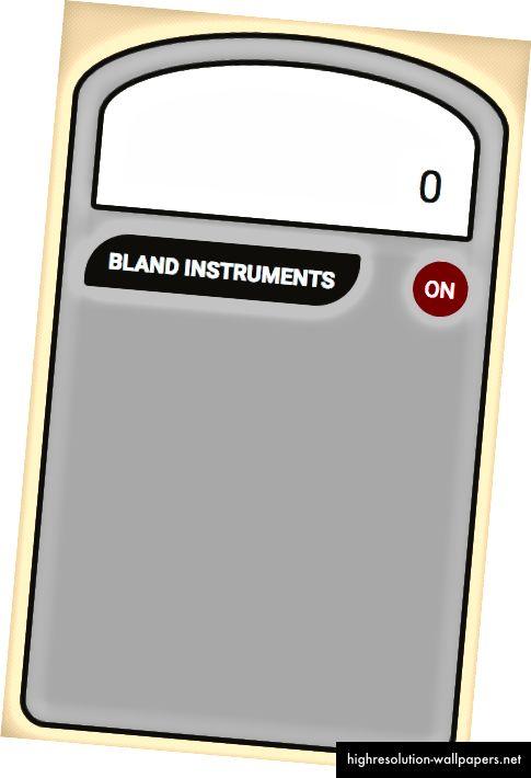 Slika koja prikazuje naš logotip kalkulatora i gumb za uključivanje iz CSS-a iznad
