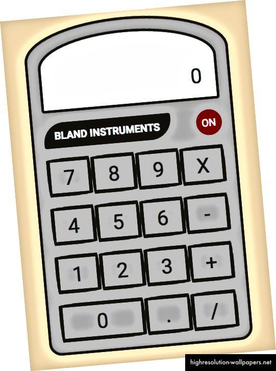 Slika koja prikazuje gumbe kalkulatora pomoću CSS-a iznad