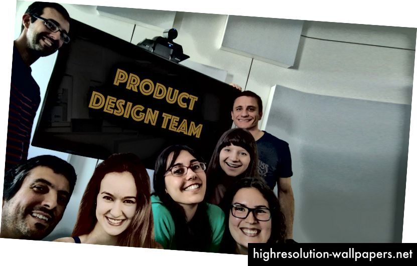 Novembre 2016 - L'équipe de conception de produits.