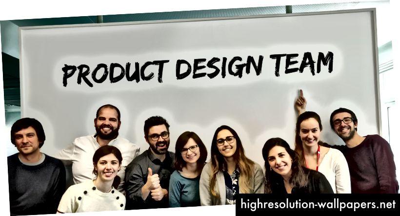 L'équipe de conception de produit en 2018