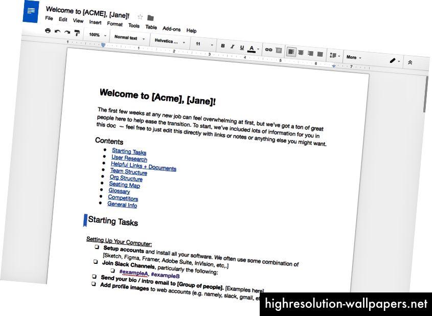 Documentul de întâmpinare: o bibliotecă de informații care trebuie cunoscute pentru noul dvs. proiectant