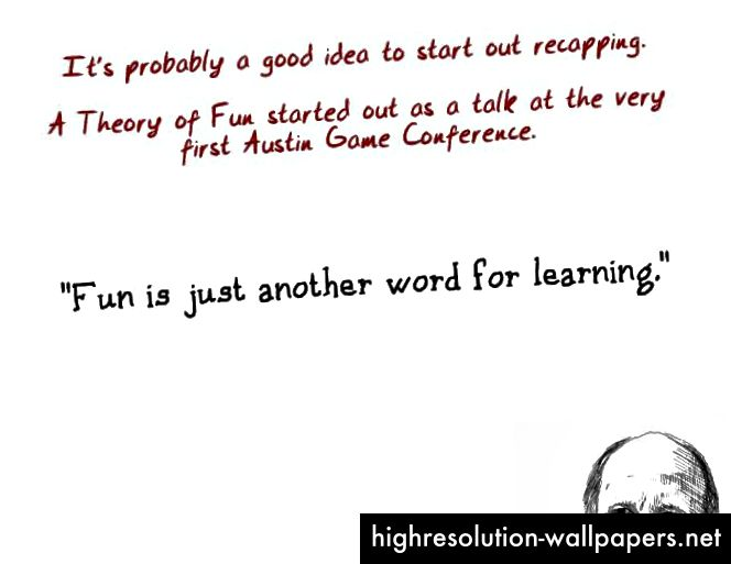 http://www.raphkoster.com/games/presentations/a-theory-of-fun-10-years-later/
