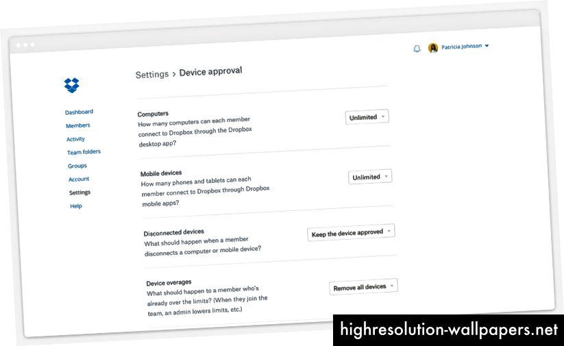 Διαχειριστές ελέγχου στο Dropbox με προεπιλεγμένες καταστάσεις που δημιουργούν ευέλικτες εμπειρίες τελικού χρήστη