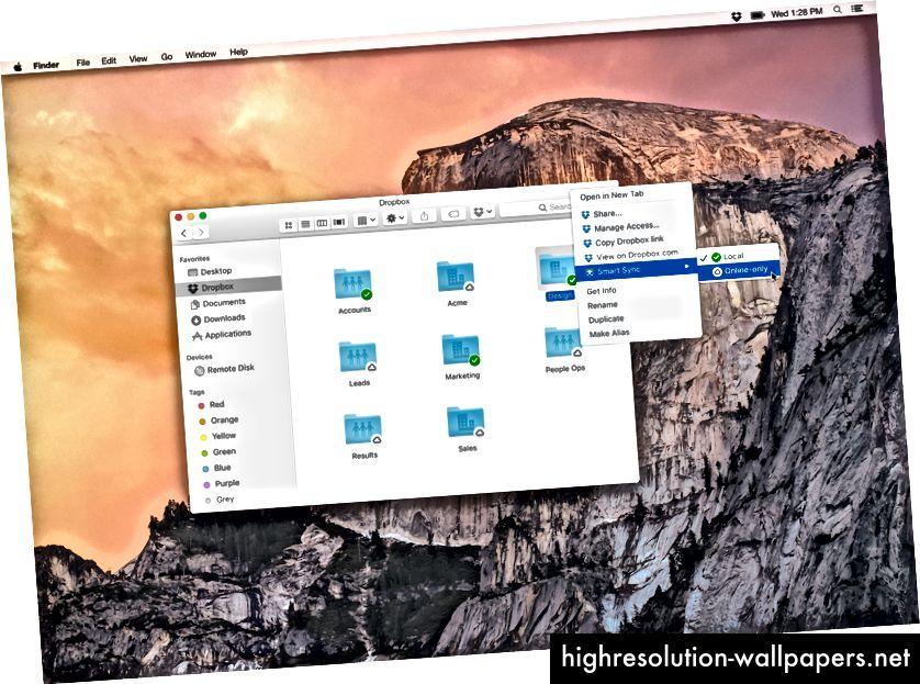 Έξυπνος συγχρονισμός για να στείλετε τα αρχεία σας στο σύννεφο