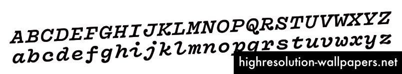 Forholdet i bredden mellem store og små bogstaver er en udfordrende opgave for monospace-design. Denne tidlige version af Vulf Mono viser også boldterminaler på K og R, en detalje, der senere blev stryget ud.