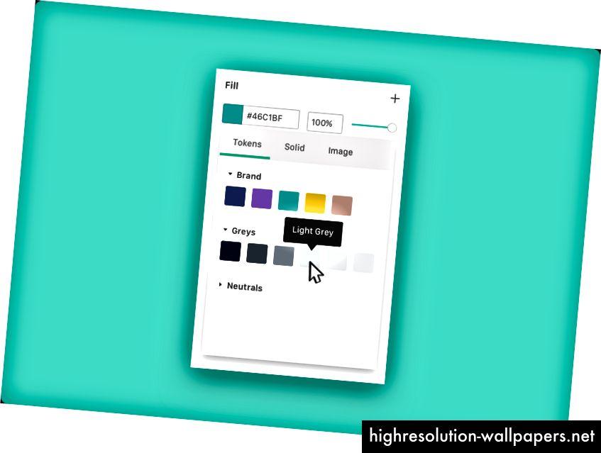 Brug af farvetiketter fra dit Design System