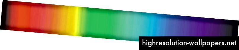 Espectro visible de Isaac Newton