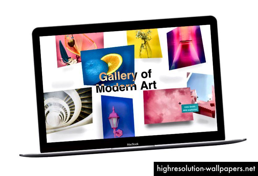 Дизайн для художественной галереи AMP Site