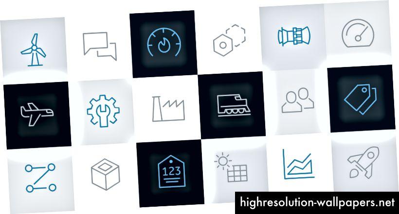 Skup prilagođenih SVG ikona bio je važan za ispunjavanje našeg dizajnerskog jezika. Dizajnerske smjernice omogućuju timovima da produže skup prema potrebi.