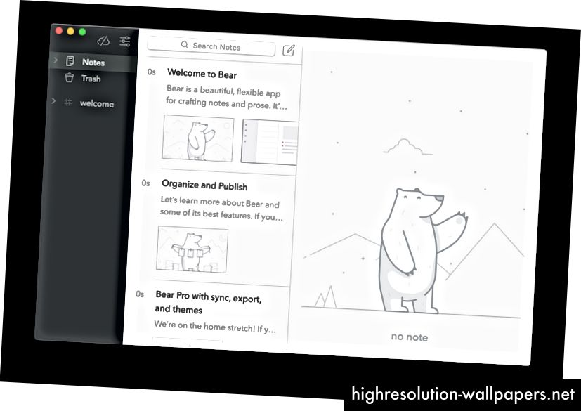 Bear app - smart tom plass