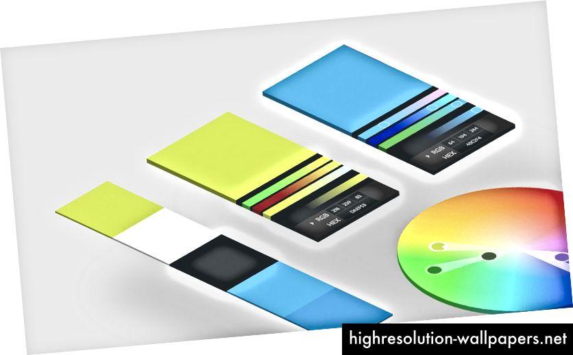 Alat seperti Adobe Color CC memudahkan untuk menentukan predefine palet