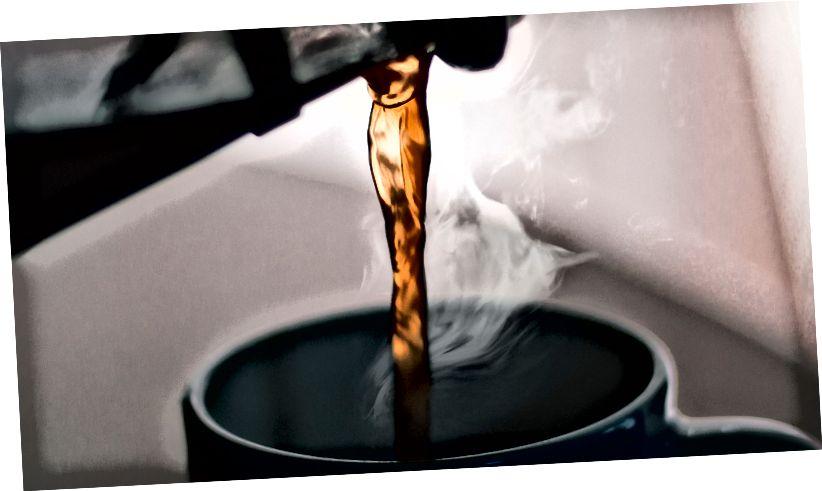 Отличная французская пресса кофе, не выходя из собственной самоизоляции.