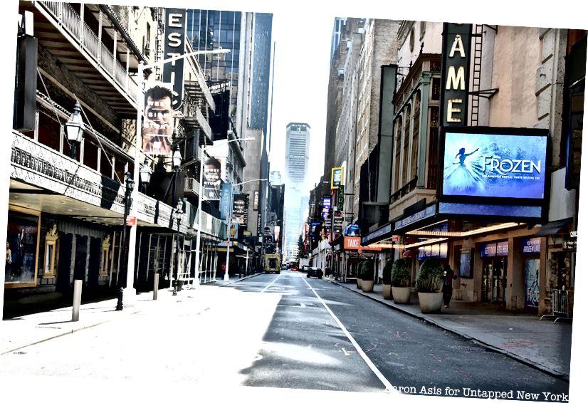 A New York-i Broadway félelmetesen csendes, a kiaknázatlan New York-on keresztül